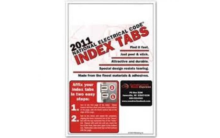 2011 NEC Index Tabs