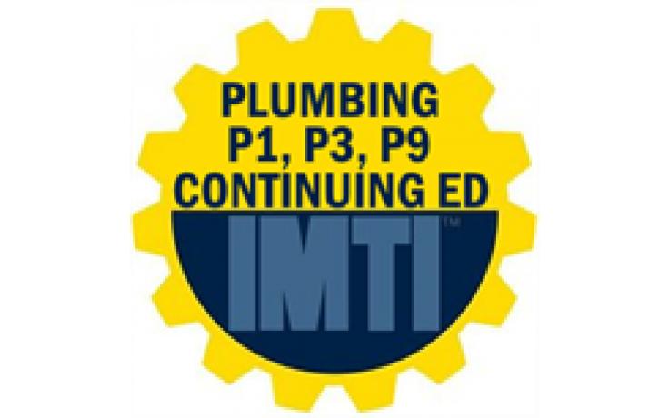 P1, P3, P9 Plumbing CEU